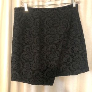Black Madewell asymmetrical mini skirt